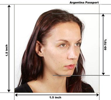 Argentina passport photo