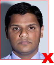 Unacceptable passport photo