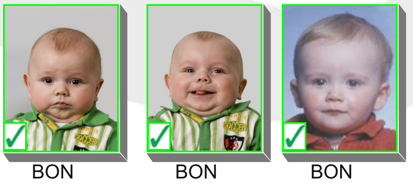 Belgium children passport photo