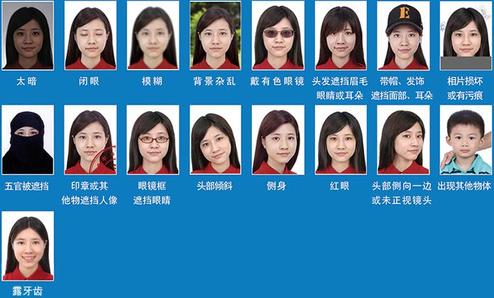 China unacceptable passport photos