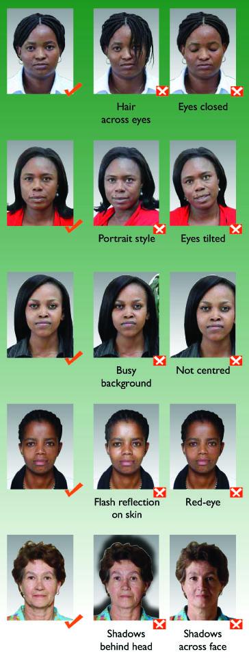 South africa passport photo